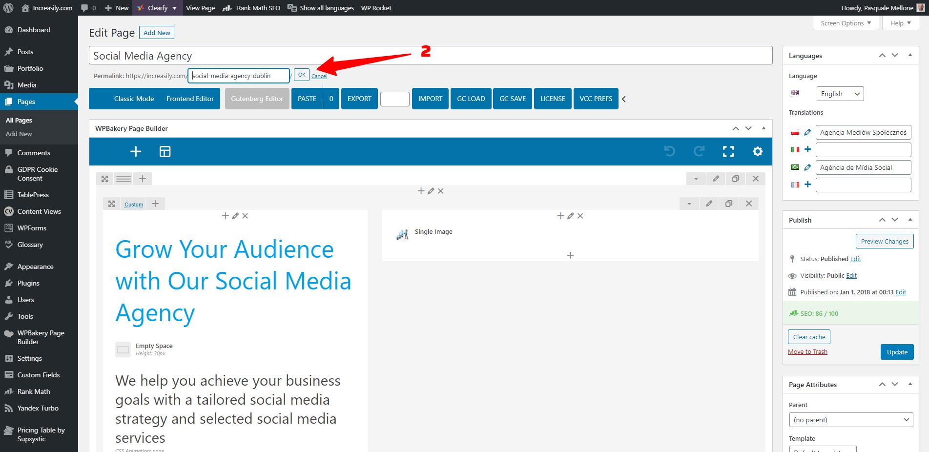 how to optimise your website url in wordpress part 2